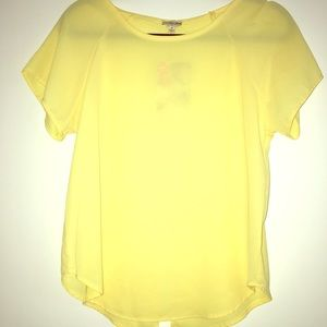 👄Yellow Peep Color it is sheer blouse
